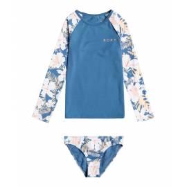 Ensemble de bain anti-UV pour fille - Manches longues - Swim Lovers - Blue Moonlight