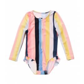 Maillot de bain anti-UV pour bébé - fille - Manches longues Opti Stripe - multi