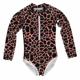 Maillot de bain anti-UV pour fille - Moray tachetée - Noir