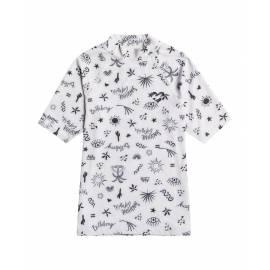 T-shirt anti-UV pour filles - Manches courtes - Swim - Cristal de sel