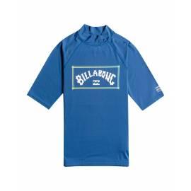 T-shirt anti-UV pour homme - Manches courtes - Unité - Bleu foncé