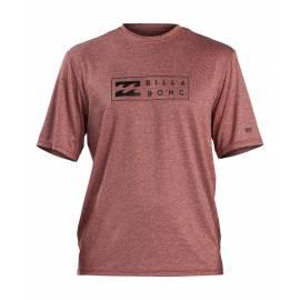 T-shirt anti-UV pour homme - Manches courtes - Unité - Oxblood Bruyère