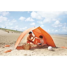 Abri de plage EASY SHELL Orange, certifié anti UV