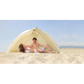 Abri de Plage EASY DUO SHELL Beige, certifié anti UV