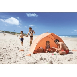 Abri de Plage EASY DUO SHELL Orange, certifié anti UV