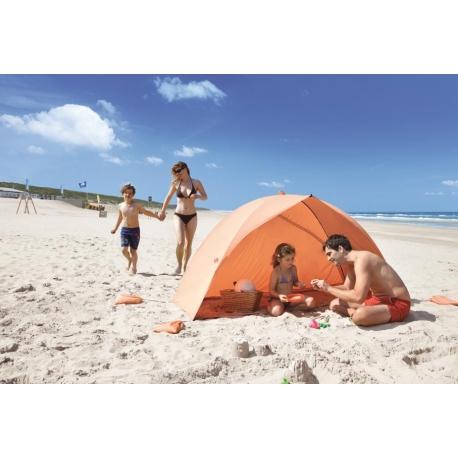 Abri de Plage EASY DUO SHELL Orange, certifié anti UV