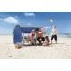 Tente de plage PREMIUM Bleu, certifié anti UV