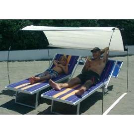 Tente de plage PREMIUM Beige, certifié anti UV
