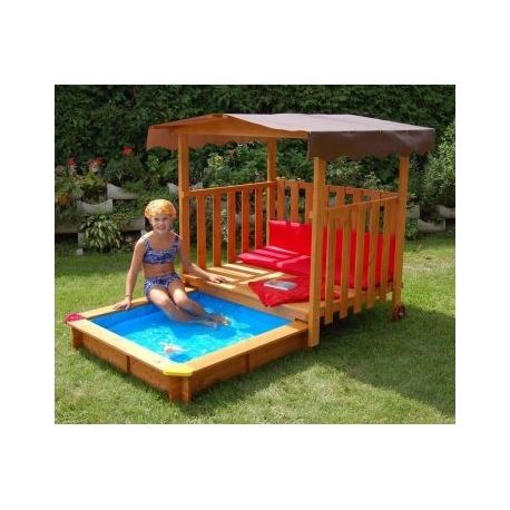 Piscine pour bac sable maisonnette for Bac piscine a enterrer