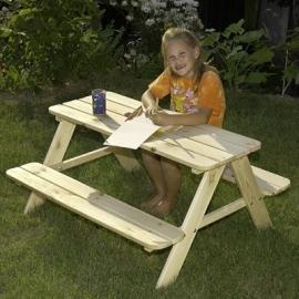Table enfants en bois pour jardin