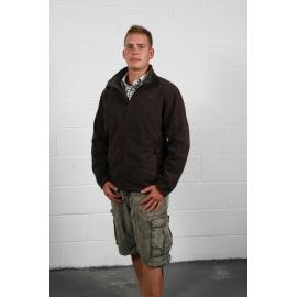 Veste chauffante polaire homme marron Blazewear