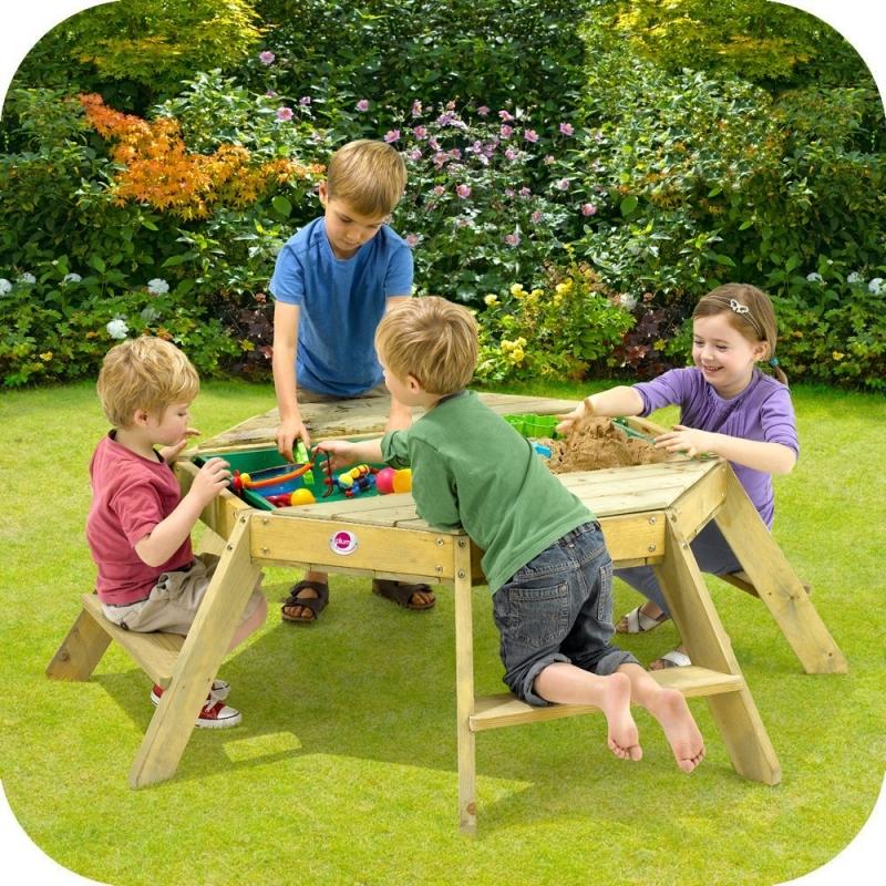 table enfant bac sable octogonale sodiffusion. Black Bedroom Furniture Sets. Home Design Ideas