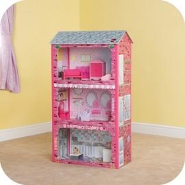 Maison de poupées Plaza avec accessoires, Plum.