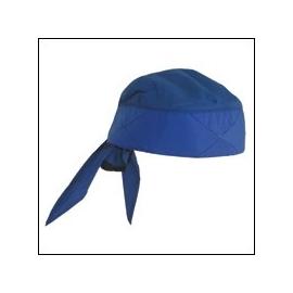 Bandana rafraichissant bleu, Techniche.