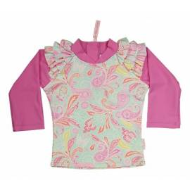 T-shirt de bain manches longues bébé Fille - Paisley park/Opera mauve