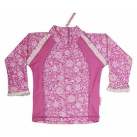 T-shirt de bain manches longues bébé Fille - Summer Garden/Opera mauve