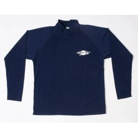 T-shirt de surf manches longues anti uv mixte - Bleu marine