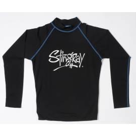 T-shirt de surf manches longues anti uv mixte - Noir