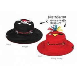 Chapeau soleil anti uv enfant réversible Pirate/Perroquet