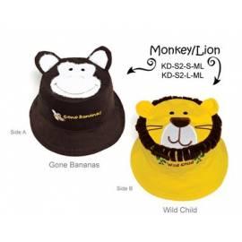 Chapeau soleil anti uv enfant réversible Lion/Singe