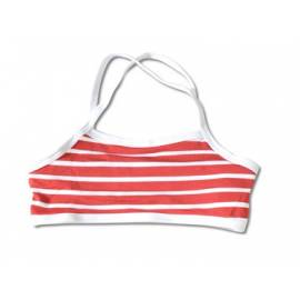 Haut de maillot de bain anti uv enfant - Rouge rayé blanc