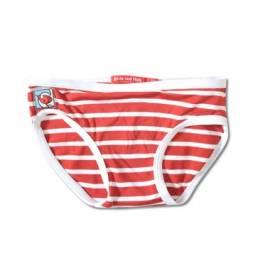 Bas de maillot de bain anti uv enfant - Rouge rayé blanc