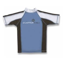 T-Shirt manches courtes anti uv - Bleu/Chocolat/Blanc