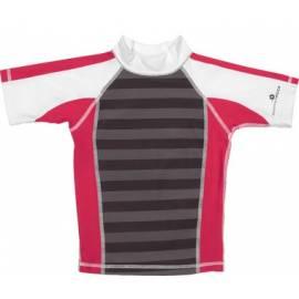 T-Shirt manches courtes anti uv - Blanc/Rouge/rayé gris