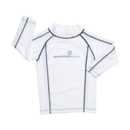 T-Shirt manches longues anti uv White/Navy Stitch