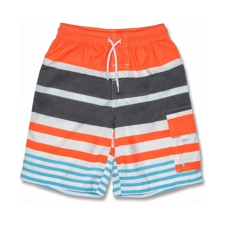 Boardshort anti uv enfant - Rayé Orange