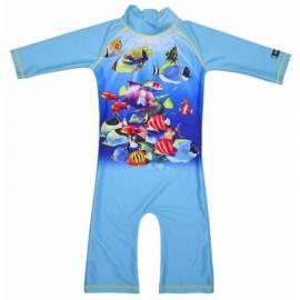 Maillot de bain une pièce anti uv enfant - Poisson Turquoise