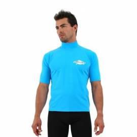 T-shirt de surf manches courtes anti uv homme - Azure