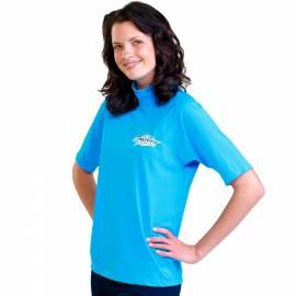 T-shirt de surf manches courtes anti uv mixte - Bleu marine