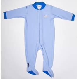 Maillot de bain une pièce manches longues avec pieds anti uv bébé - Bleu clair/Royal