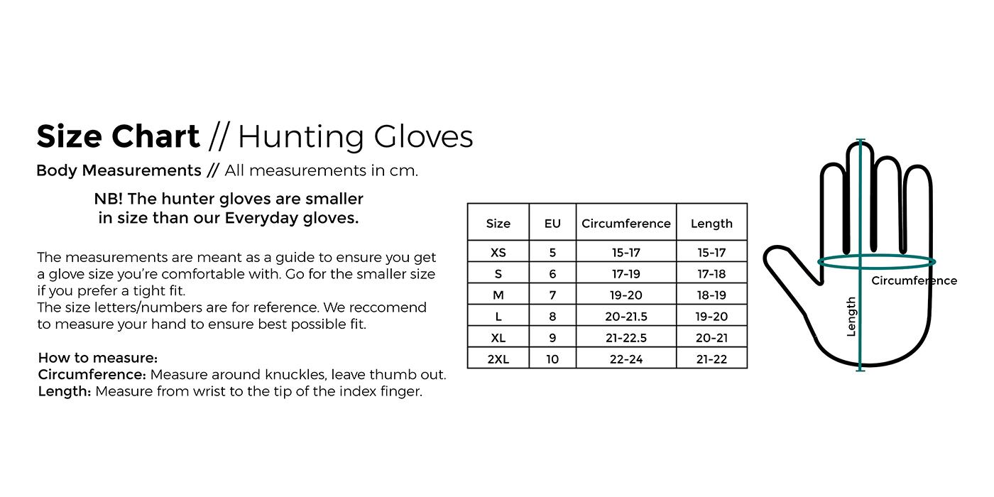 Tailles gants Het Experience