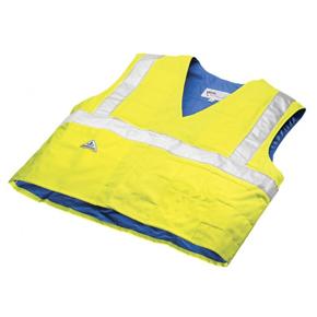 Gilet de sécurité rafraichissant jaune