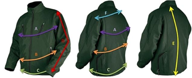 Guide des tailles pour la veste Thermo jacket