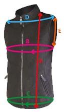 Guide des tailles pour le gilet thermo vest